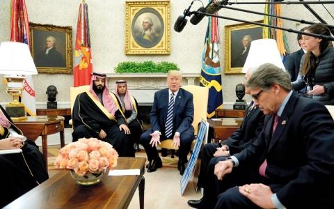 الصورة: ترامب وولي العهد السعودي يبحثان العلاقات الثنائية وجهود مكافحة الإرهاب