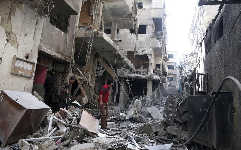الصورة: ميركل تدين قصف الغوطة وتعـتبر ما يجري في عفرين «غير مقبول»