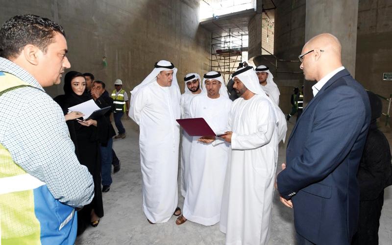 الصورة: مدير عام بلدية دبي يتفقد مشروع   مكتبة محمد بن راشد