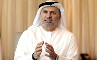 الصورة: قرقاش: قطر تؤكد الأدلة ضدها بـ «قائمة الإرهابيين»