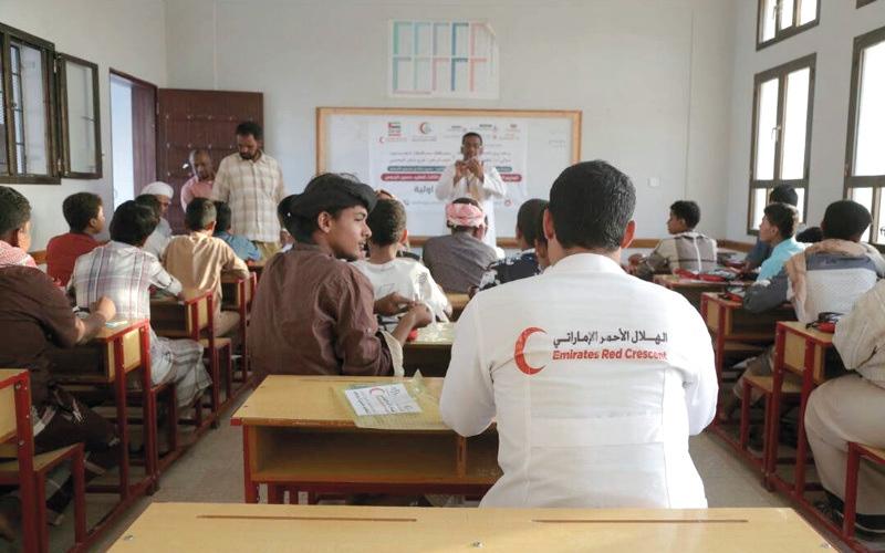 الصورة: «الهلال» تنظِّم محاضرات تثقيفية صحية بمديرية تريم في حضرموت