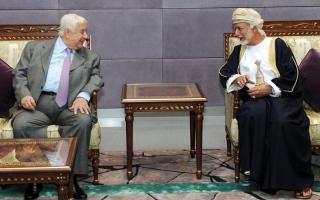 الصورة: وزير الخارجية السوري يزور مسقط