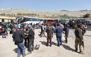 الصورة: دمشق وموسكو تهددان بهـجوم على دومــا ما لم ينســحـب مقــاتـلـو المعارضة