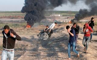 الصورة: إنترفيو..ساندرز: قتل المتظاهرين الفلسطينيين من قبل القوات الإسرائيلية أمر مأساوي