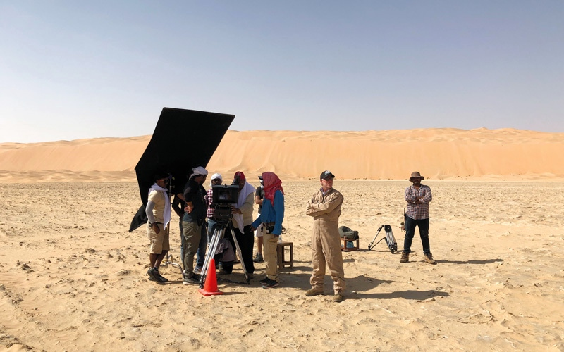 الصورة: خبرة ستروثرز الخطرة أمام صُنّاع سينما واعدين في أبوظبي