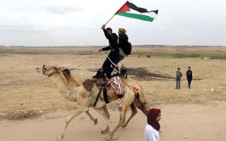 الصورة: عباس: ما زلنا نمد أيدينا للسلام القائم على حل الدولتين مع إسرائيل
