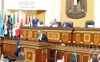 الصورة: اتحاد البرلمان العربي يدين التدخل الإيراني في اليمن