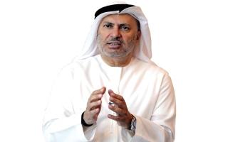 الصورة: قرقاش: حل الأزمة  القطرية بوابته الرياض