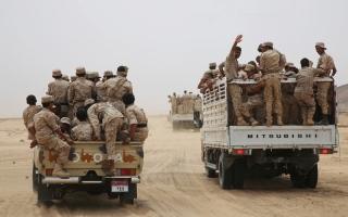 الصورة: الجيش اليمني يبدأ معركة حيران في حجة بعد إعلانه ميدي مدينة محررة بالكامل