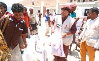 الصورة: «الهلال» تبحث احتياجات محافظة لحج من المشروعات الإنسانية