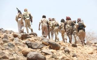الصورة: قوات الشرعية تحرر قانية البـيضاء وتقترب من مركز مديرية كتـاف صعدة