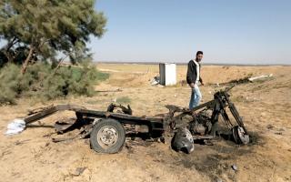 الصورة: استشهاد 4 فلسطينيين بقصف إسرائيلي جنوب قطاع غزة