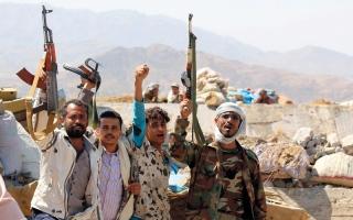 الصورة: قوات الشرعية تقترب من مركز مديرية الظاهر بصعدة وتؤمّن قانية البيضاء