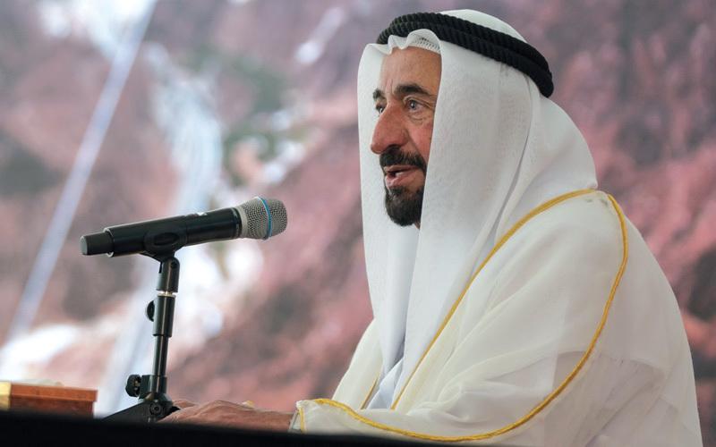 حاكم الشارقة أكد أن الإمارة تسخّر الإمكانات كافة لخدمة المواطنين وإسعادهم. من المصدر