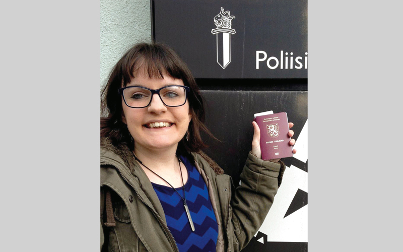 كلوي ويلز شعرت بالارتياح عقب حصولها على الجنسية الفنلندية.  أرشيفية