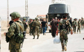 الصورة: مقتل 25 عنصراً من قوات النظـــام في هجوم مفاجئ لـ «داعش» على الميـادين