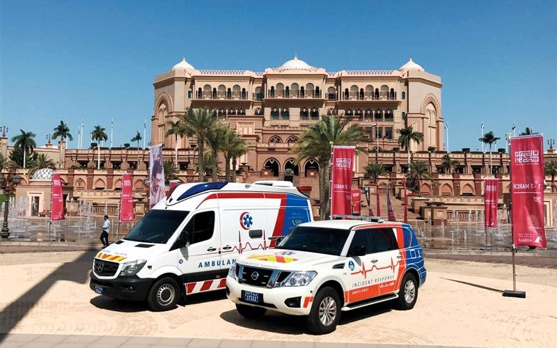الصورة: شرطة أبوظبي تُسعف 41 ألف مريض ومصاب العام الماضي