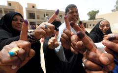 الصورة: العراقيون يرون في الانتخابات فرصة لاختيار وجوه جديدة