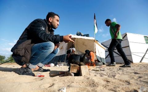 الصورة: مخيم احتجاجي