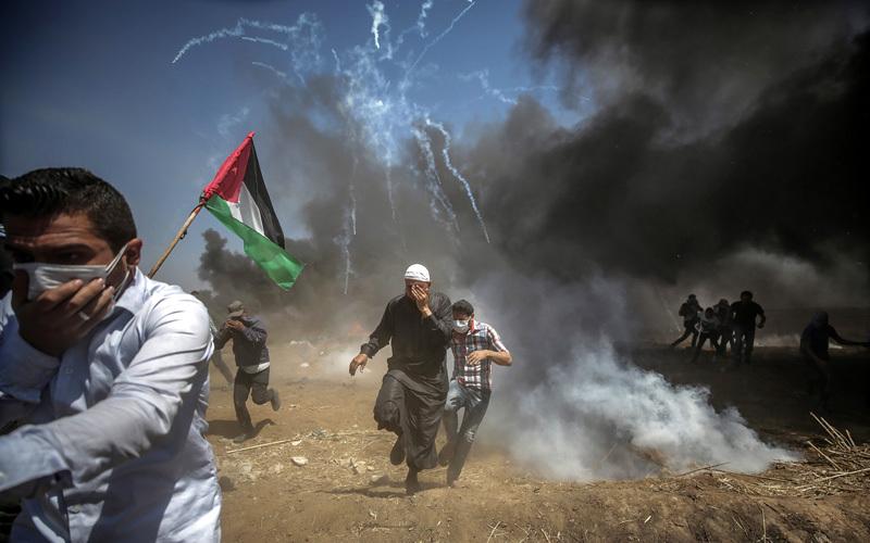 الشباب في غزة شارك بفاعلية في مسيرات العودة وسط قمع وحشي إسرائيلي.  أرشيفية