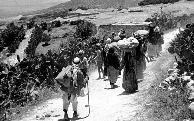 النكبة الفلسطينية محفورة في قلوب الفلسطينيين جيلاً بعد جيل. أرشيفية