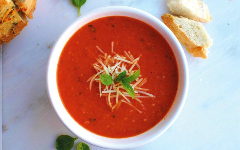 حساء الطماطم المشوي