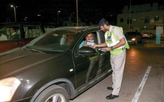 الصورة: شرطة أبوظبي تنفّذ خطة مرورية لتوفير السلامة في رمضان