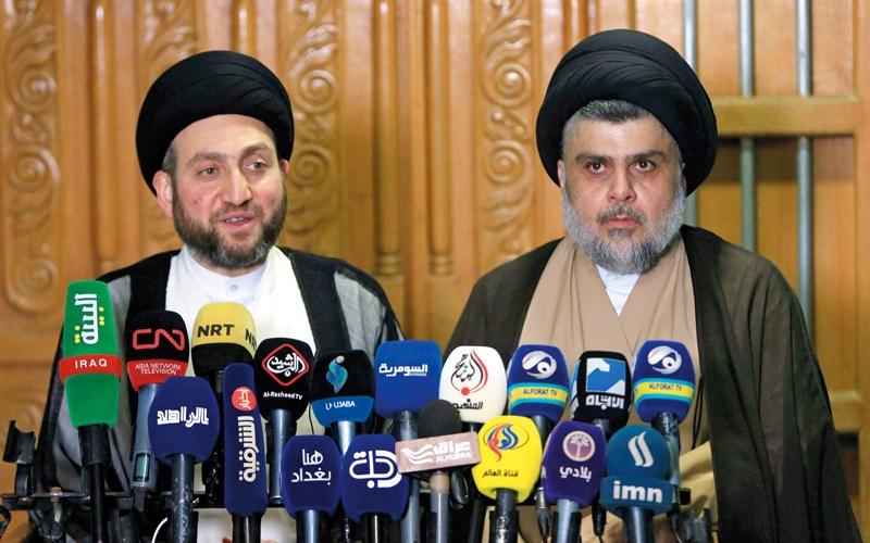 الصورة: الصدر والحكيم يبحثان مستقبل العملية السياسية في العراق