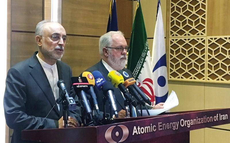 الصورة: إيران تهدد باستئناف تخصيب اليورانيوم لمستوى 20%