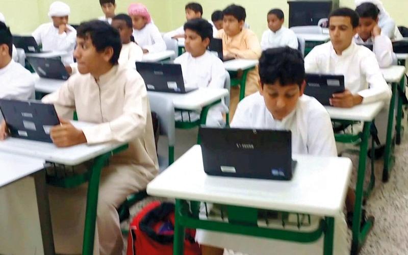 الصورة: أعطال تقنية في لجان «الامتحان الإلكتروني» في اليوم الأول من تطبيقه