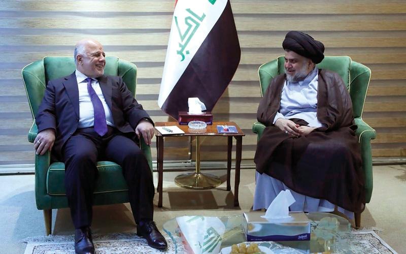 الصورة: الصدر يشترط انسحاب العبادي من حزب الدعوة لترشيحه لولاية ثانية