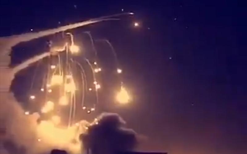 الصورة: الدفاع الجوي السعودي يعترض صاروخا بالستيا أطلقته ميليشيا الحوثي اتجاه المملكة