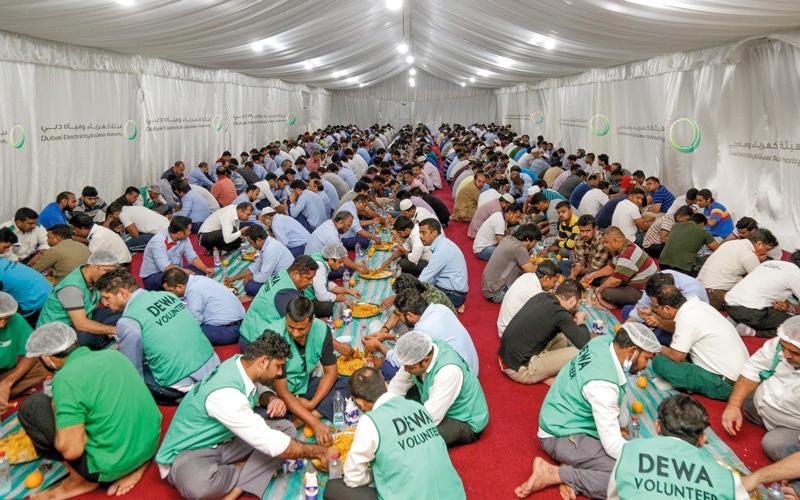 الصورة: «كهرباء دبي» ترسخ التواصل في «خيمة رمضانية»