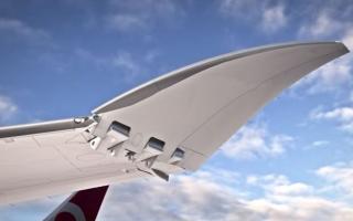 الصورة: بالفيديو.. أول ظهور لطائرة 777X المزودة بأكبر محرك نفاث في العالم