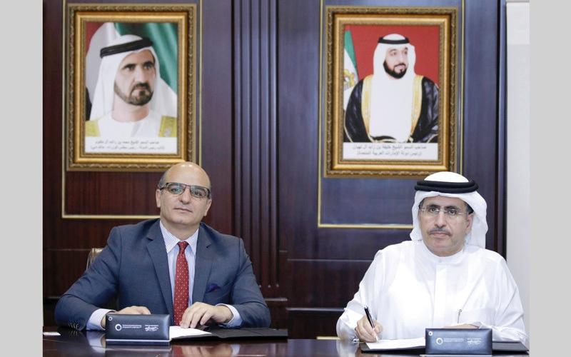 الصورة: «كهرباء دبي» توقع اتفاقية لتوفير استرداد قيمة التأمين  من شركات صرافة