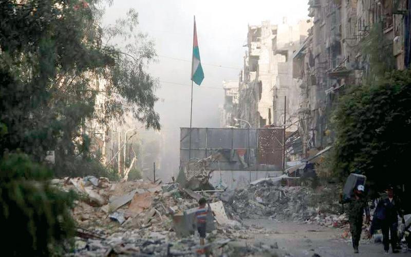 الصورة: مقتل 26 من قوات النظام في هجوم لـ «داعش» بالبادية السورية