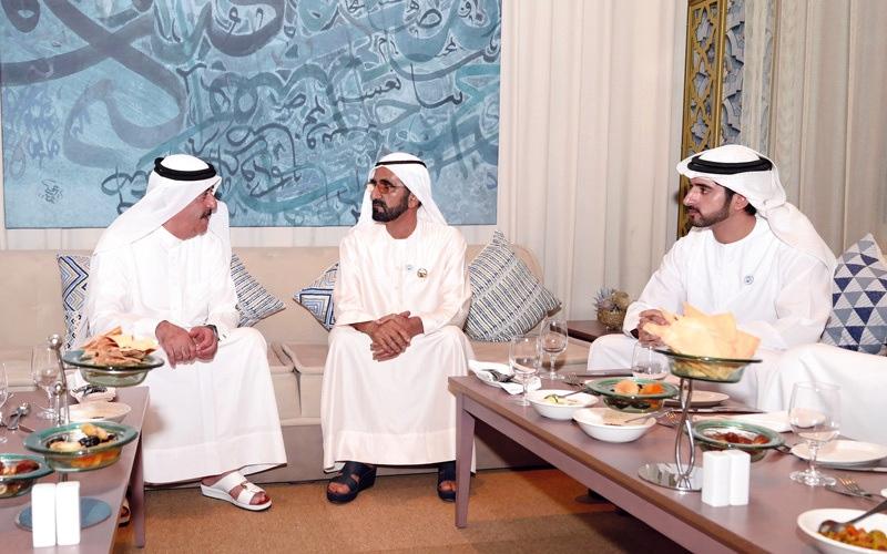 الصورة: محمد بن راشد يلتقي سعود المعلا