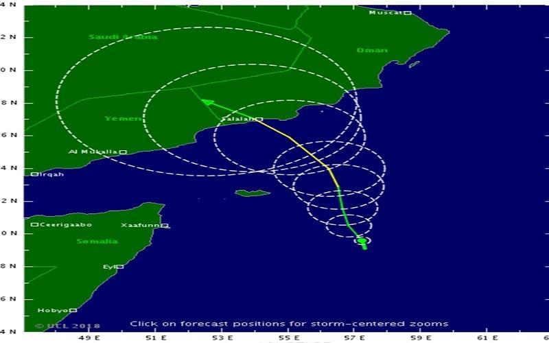 """الصورة: """"الأرصاد"""": الدولة لن تتأثر بـ""""إعصار العاصفة المدارية"""""""