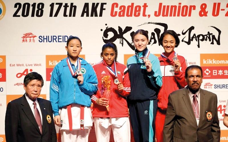 الصورة: فاطمة خصيف.. أول لاعبة كاراتيه إماراتية تصل إلى أولمبياد الشباب