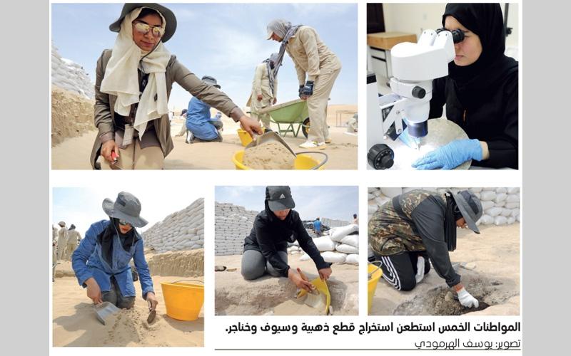 الصورة: بالفيديو.. 5 مواطنات يبحثن عن آثار الإمارات في ساروق الحديد