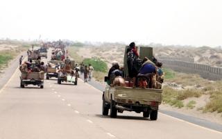 الصورة: المقاومة اليمنية تتقدم في منطقة المدمن بمديرية التحيتا بمشاركة وإسناد إماراتي