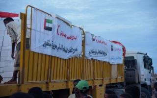 الصورة: «الهلال» تغيث متضرري «مكونو» وتنفذ «إفطار صائم» في اليمن
