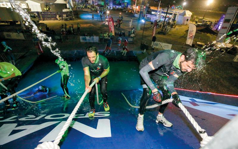 من منافسات «تحدّي ناس الليلي» ضمن دورة ند الشبا الرياضية. من المصدر