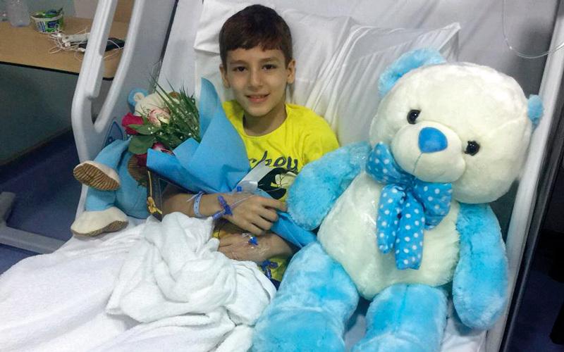 بسام خضع للعلاج في مستشفى القاسمي.  من المصدر
