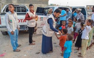 الصورة: «الهلال الأحمر» تقيم إفطاراً في الضالع وللنازحين من تعز والحديدة