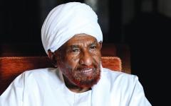الصورة: الصادق المهدي: قطر وتركيا تستغلان حاجة السودان إلى المال