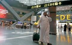 الصورة: تراجع أعداد المسافرين وحركة الطائرات بمطار الدوحة