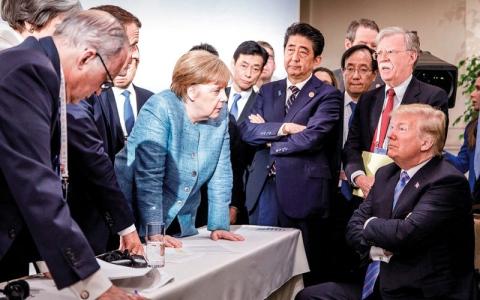 الصورة: ترامب يقوّض جهود مجموعة السبع لتهدئة خلاف تجاري