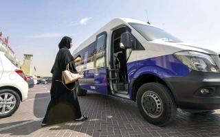 الصورة: 900 راكب استخدموا «حافلة تحت الطلب» في 4 أشهر