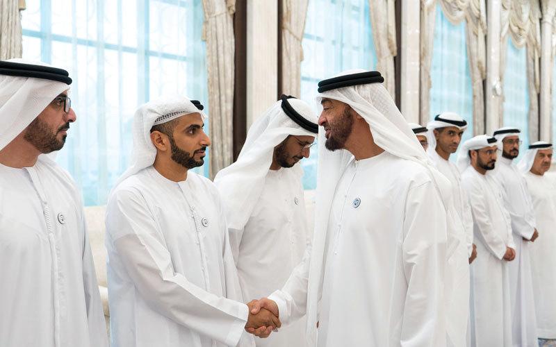 محمد بن زايد يستقبل وفدي جهاز أبوظبي للاستثمار وديوان المحاسبة